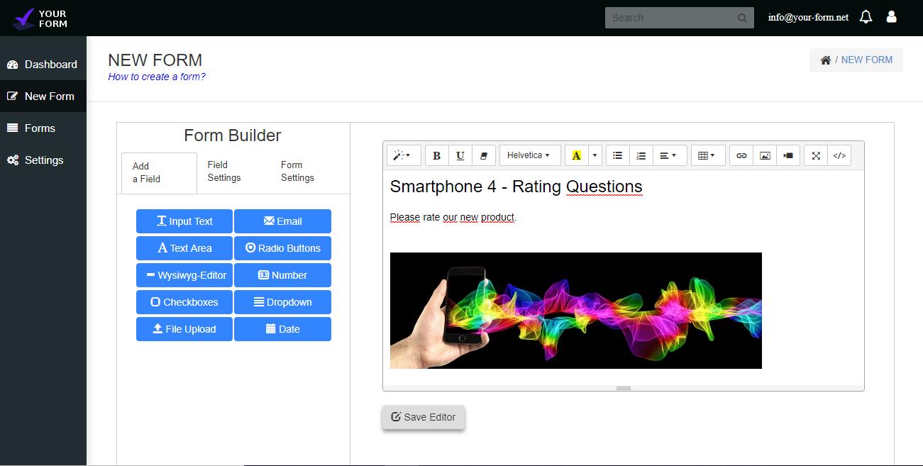 Your Form full screenshot